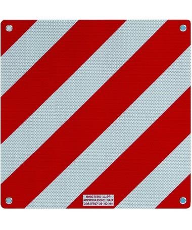 Cartello carichi sporgenti Zebra Alu